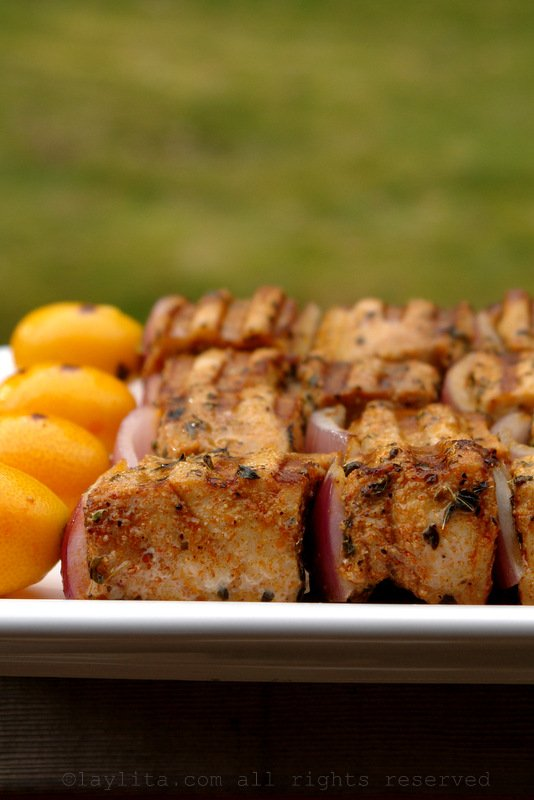 Easy recipe for tuna skewers