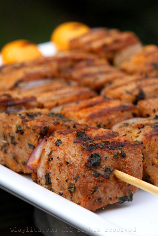 Tuna skewers recipe