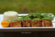 Pincho de atun or tuna skewers
