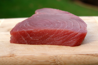 Fresh tuna for grilling