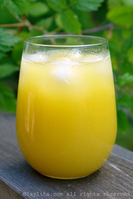 Homemade pineapple juice