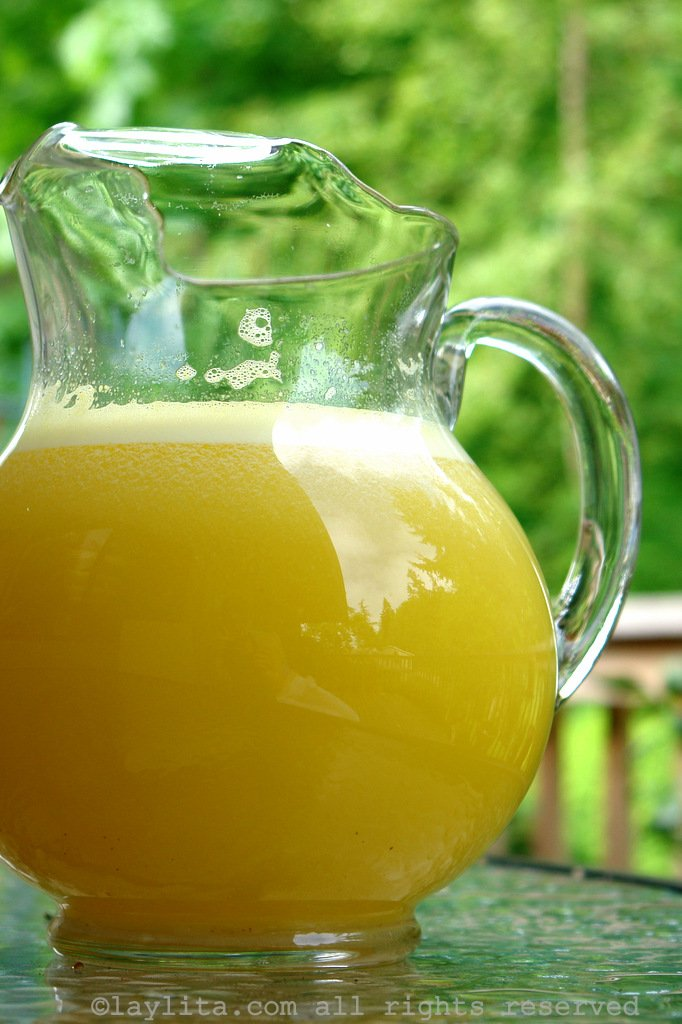 Refreshing pineapple juice