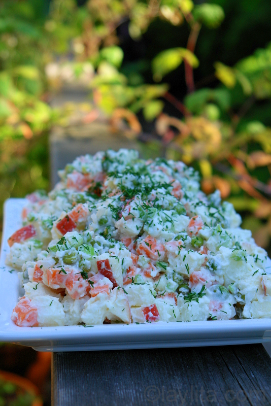 Russian Latin American Potato Salad Ensalada Rusa Laylita S Recipes