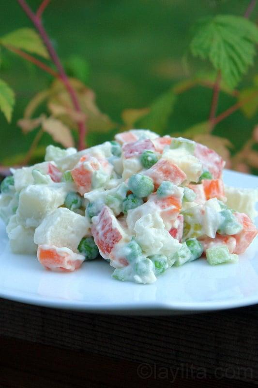 Salade de pommes de terre facile sud américaine