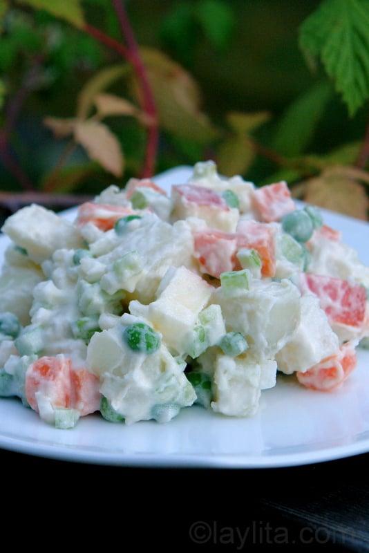 Ensalada rusa recipe