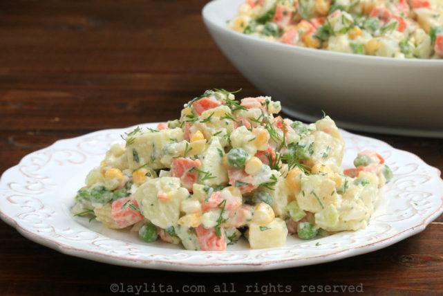 Ensalada rusa potato salad