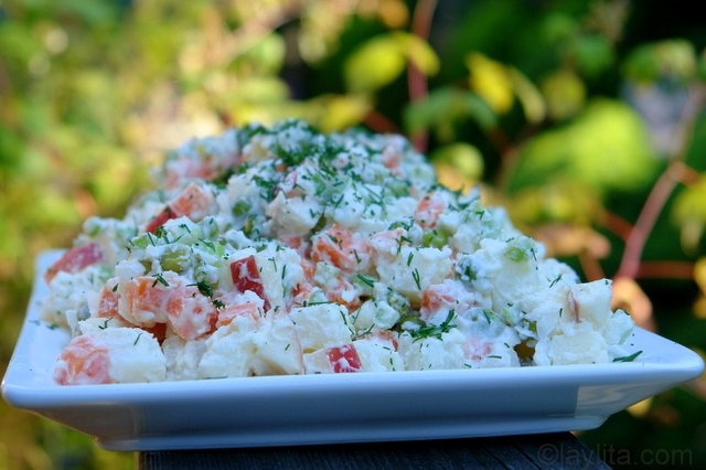 Ensalad rusa or Russian (South American) potato salad