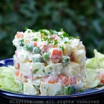 Simple ensalada rusa potato salad recipe