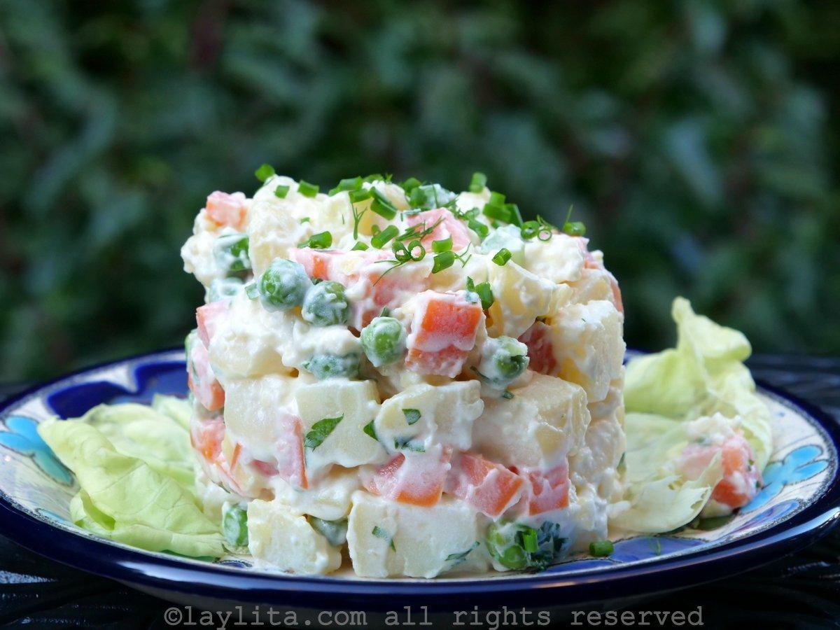 Simple ensalada rusa potato salad recipe
