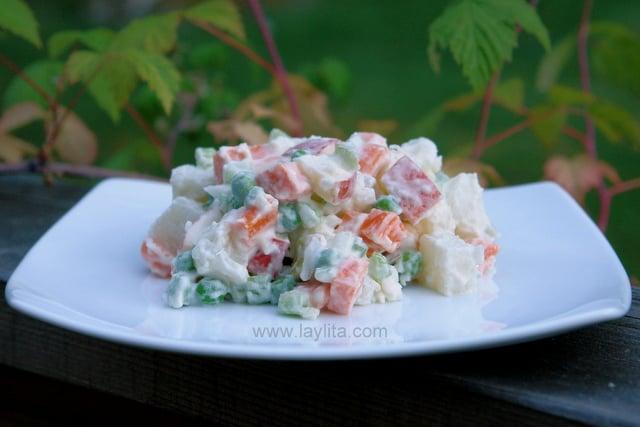Ensalada rusa or potato salad