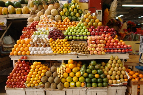 Fruits at the market in Quito