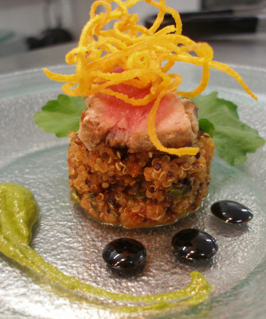 Tuna and quinoa appetizer