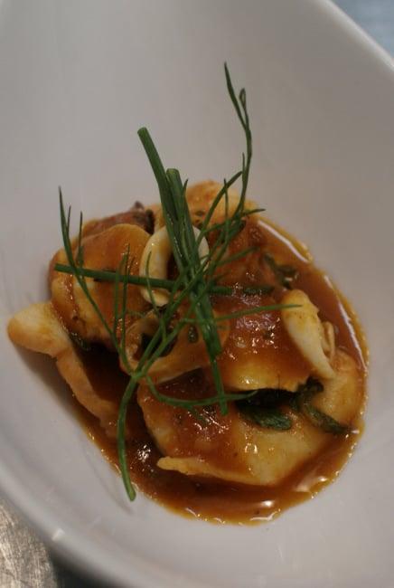 Caldereta de mariscos or seafood stew