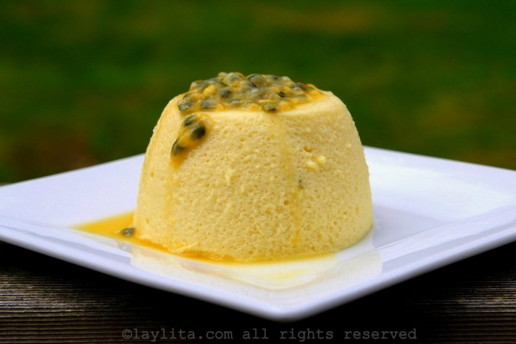Classic passion fruit mousse recipe with gelatin