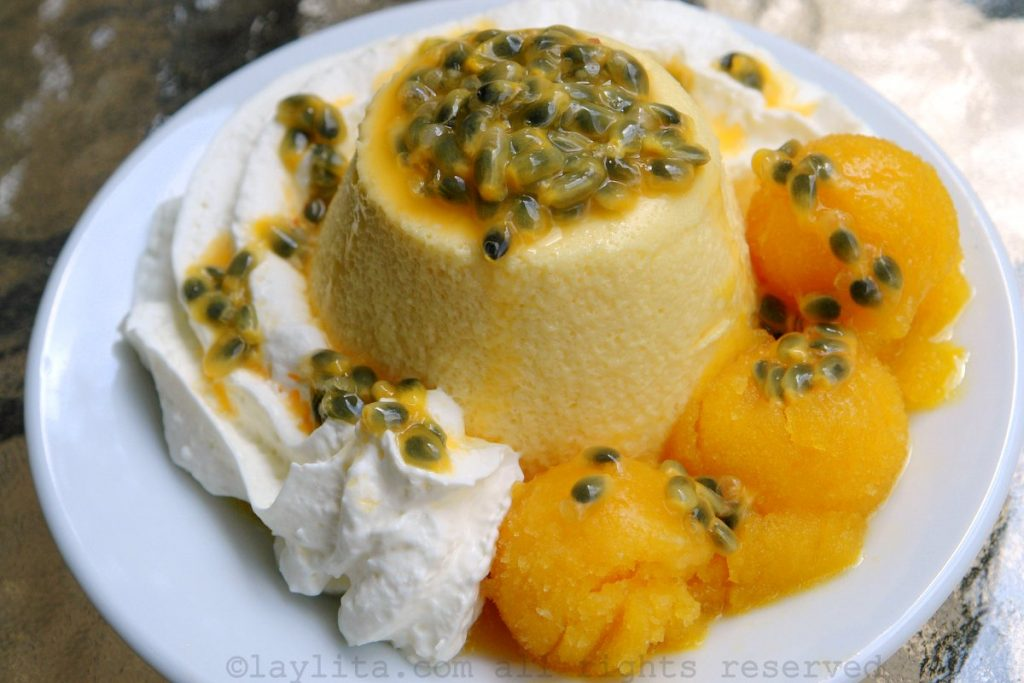 Homemade passion fruit mousse recipe