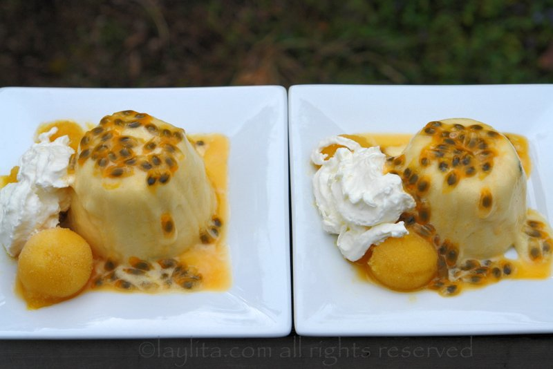 Maracuya or passion fruit mousse