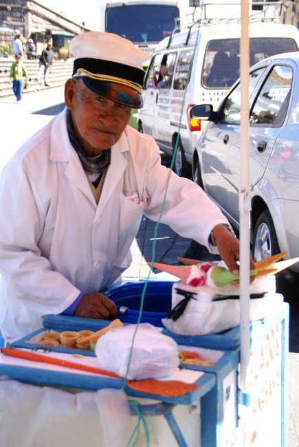 Man selling ice cream on the street