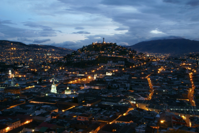 View of Quito from El Ventanal restaurant