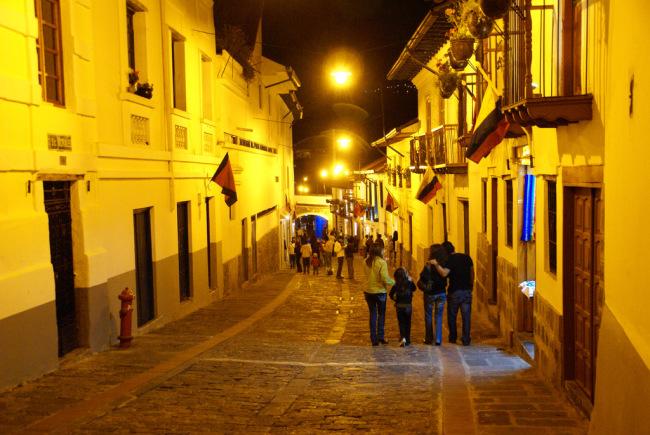 Ronda street in Quito