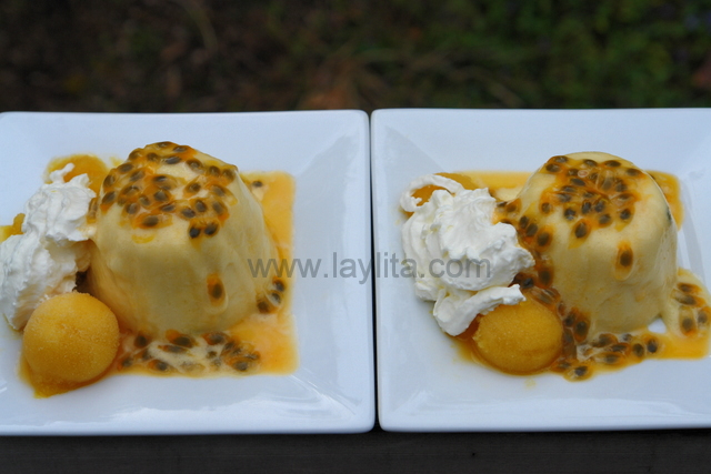 Mousse de maracuya or passion fruit mousse