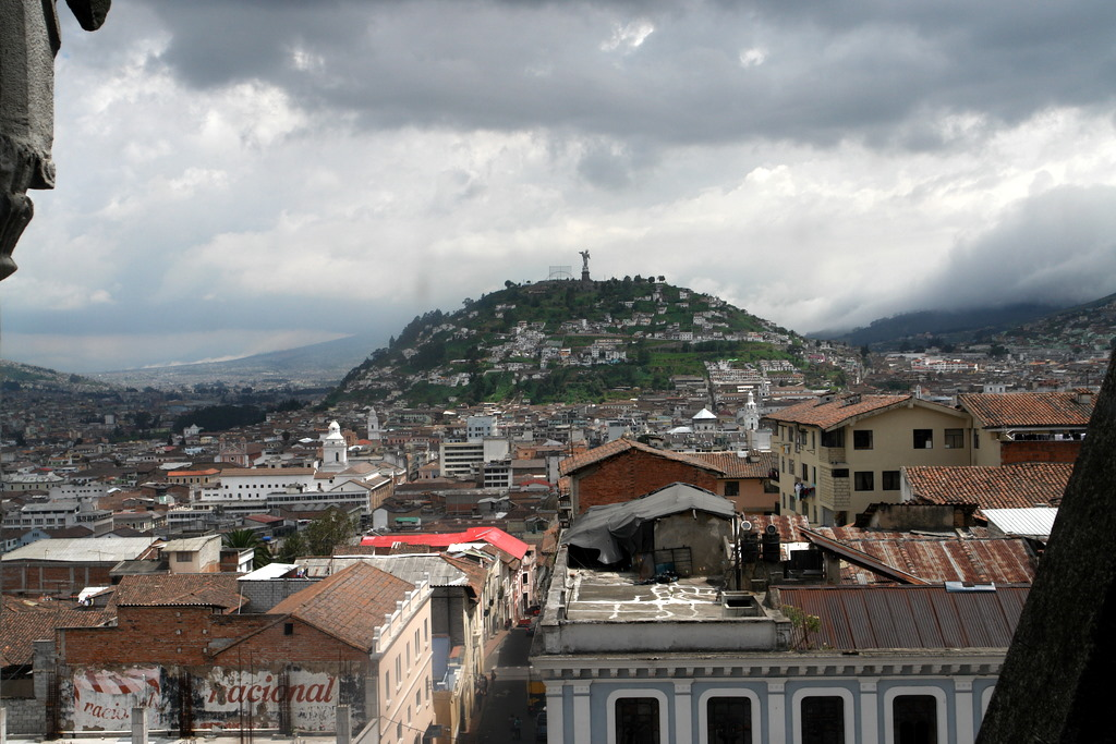 View of El Panecillo from La Basilica