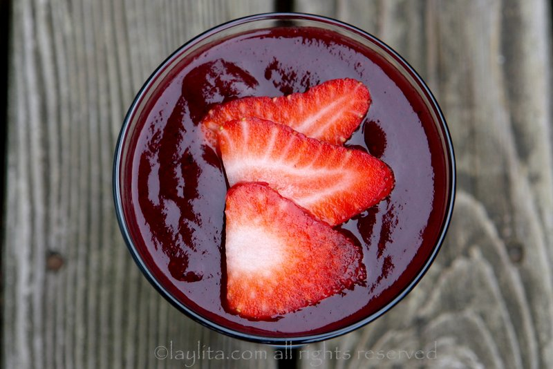 Colada Morada {Spiced berry drink}