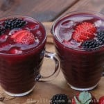 Colada Morada {Ecuadorian spiced berry and purple corn drink}