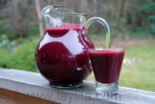 Colada morada or purple corn drink