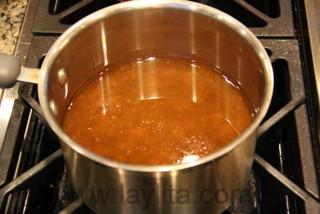 Préparation de la sauce - étape 2