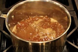 Préparation de la sauce - étape 3