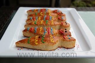 Guaguas de pan decoradas com glace