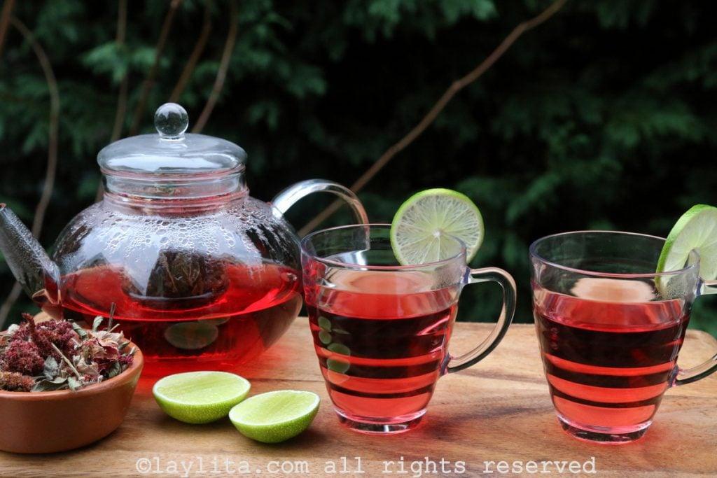 Horchata lojana tea recipe with lemon and honey