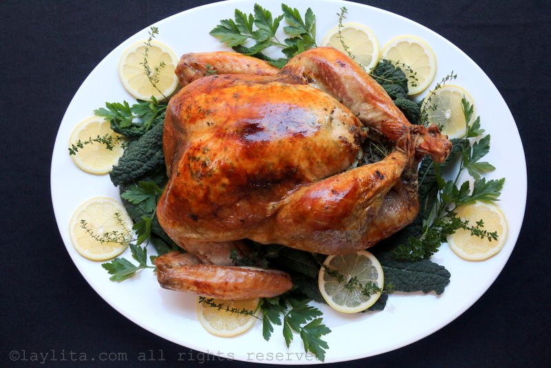 Lemon and thyme roasted turkey