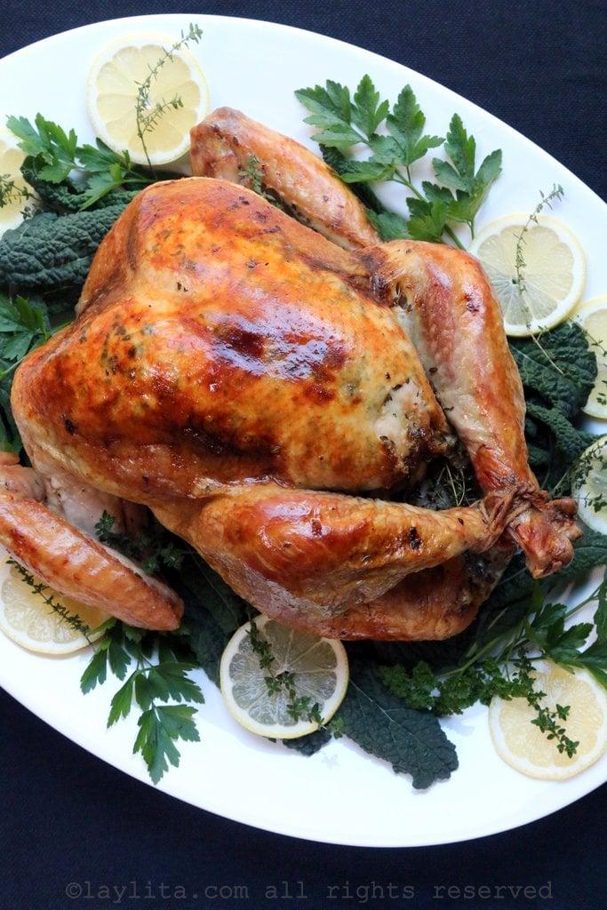 Lemon and thyme roasted turkey