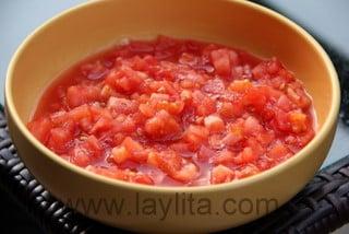 Preparação para Sopa de Tortilla com Frango