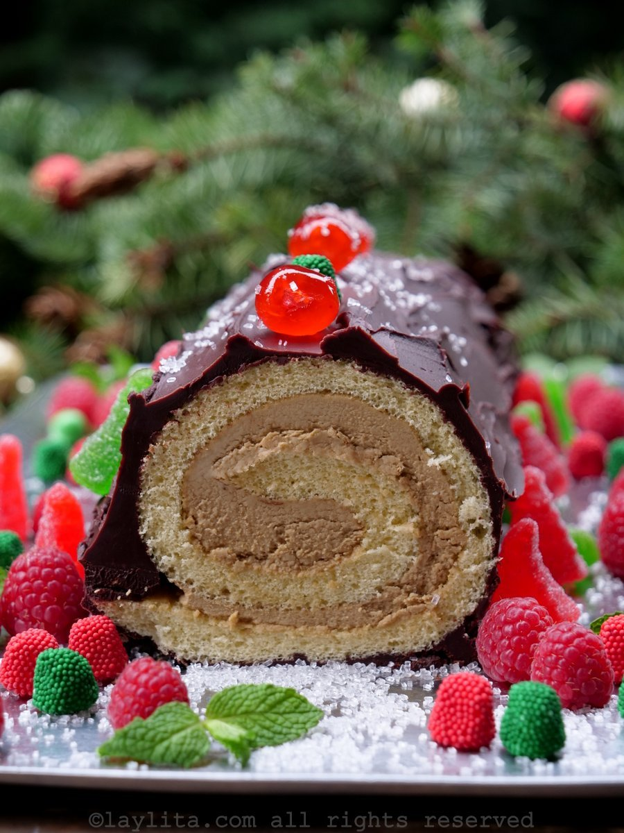How to make a Bûche de Noël or Christmas Yule Log
