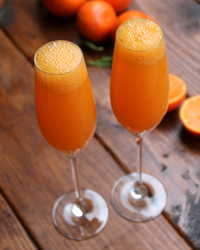 Mandarin o tangerine mimosa