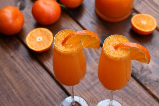 Mandarin or clementine mimosas