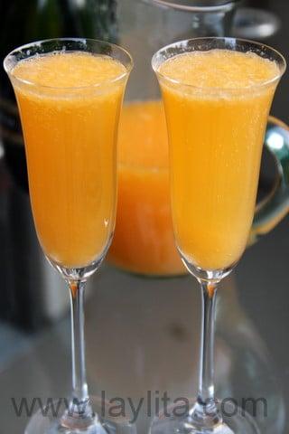 Mandarin, tangerine or clementine mimosa