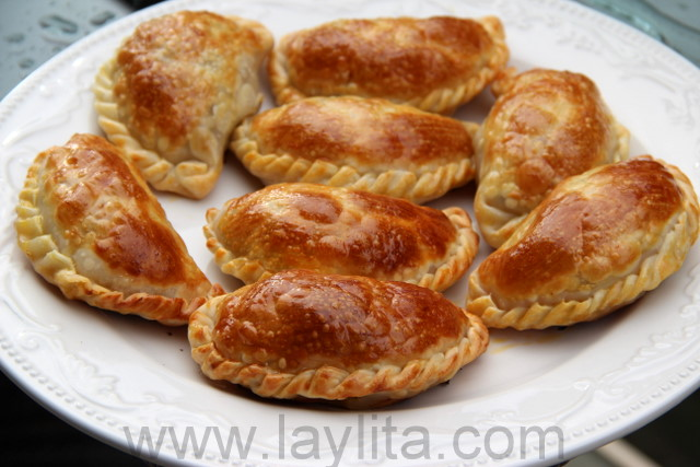 Homemade turkey or chicken empanadas