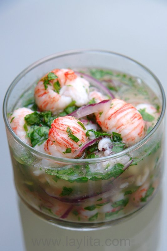 Easy recipe for langostino ceviche