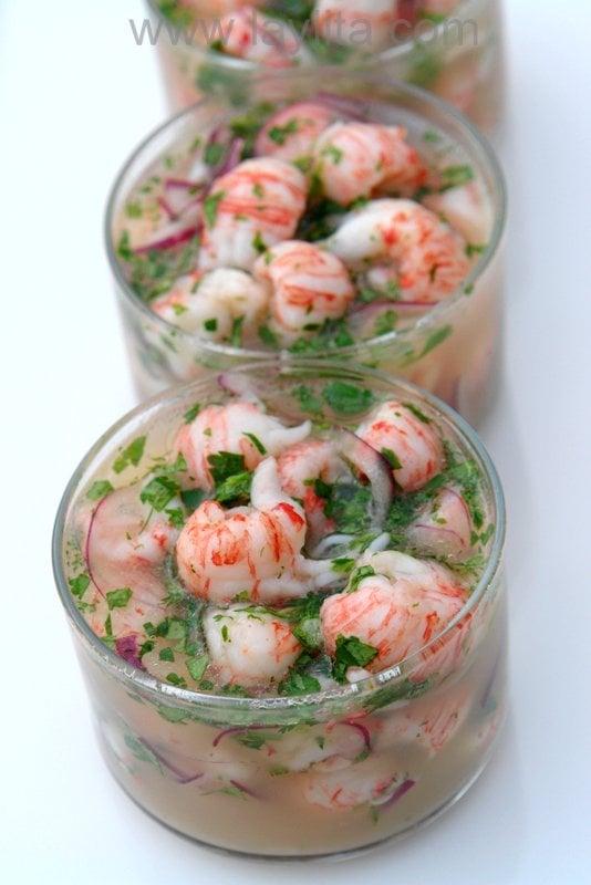 Recette du ceviche aux langoustines ou aux crevettes