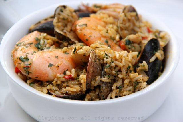 Seafood rice {Arroz marinero}