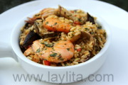 Seafood rice or arroz marinero recipe