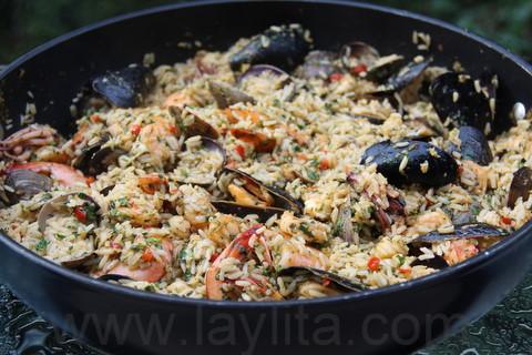 Préparation du riz aux fruits de mer 10