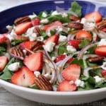 Strawberry, goat cheese, and arugula salad