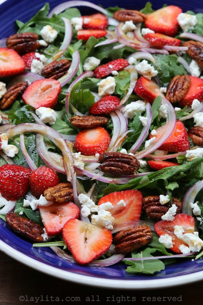 Strawberry goat cheese salad recipe