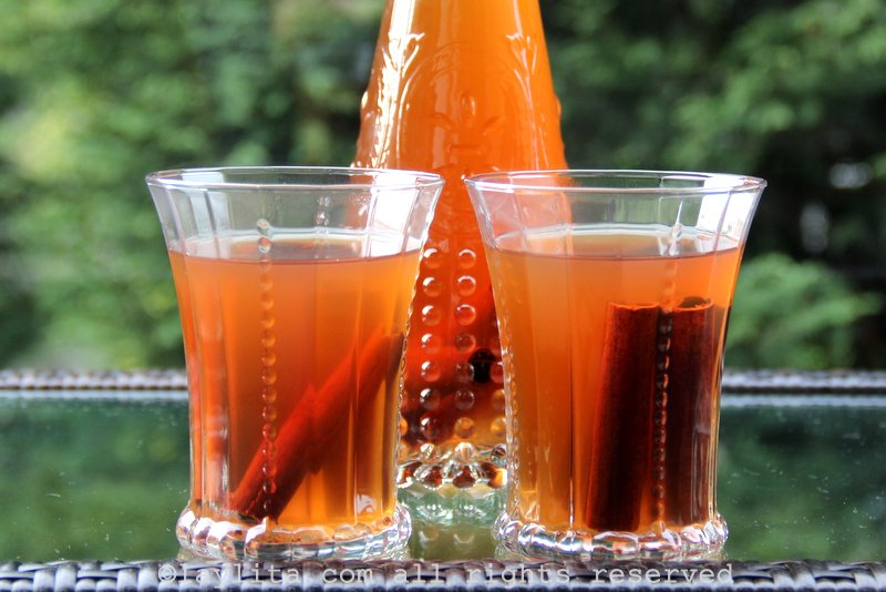 Canelazo or spiced cinnamon drink