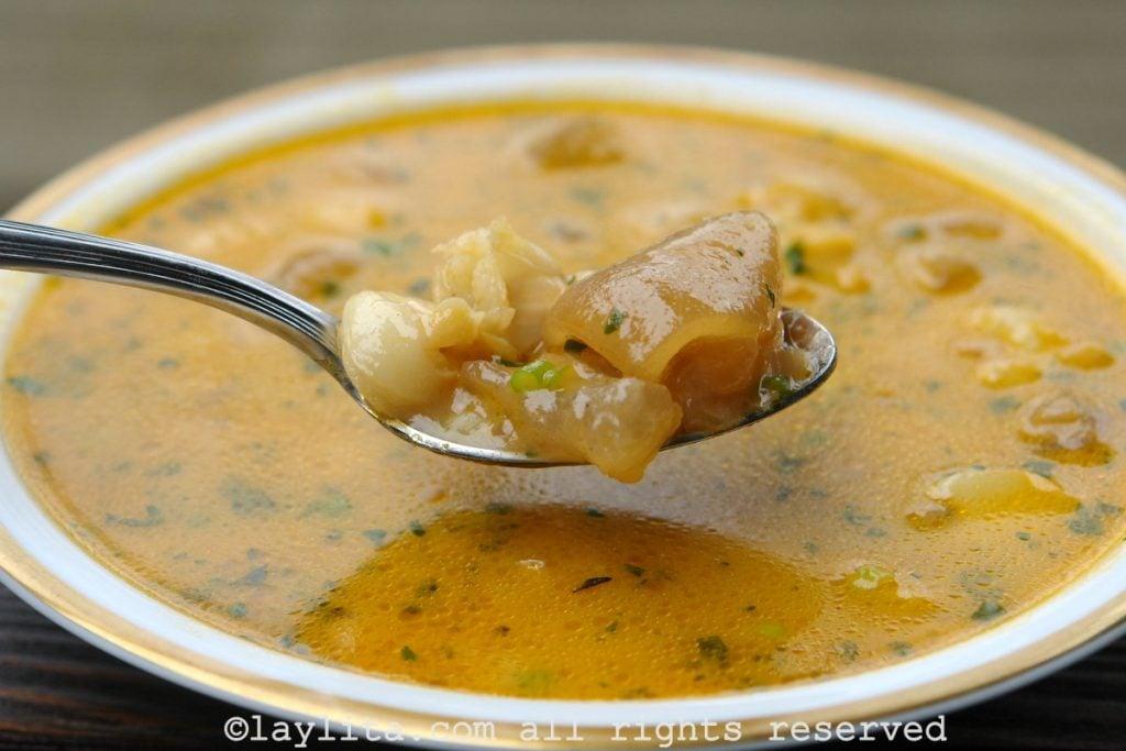 Ecuadorian caldo de pata soup recipe