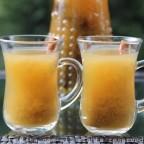 Ecuadorian canelazo drink with naranjilla